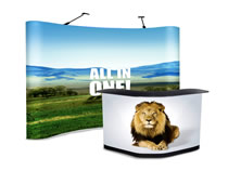 Easy to assemble, travel with and change banners.