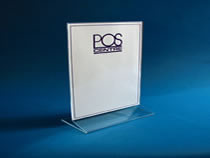 A selection of durable plastic table display stands for menus and to display offers or special notices.